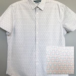 Perry Ellis | Men's L Geometric Button Up Shirt